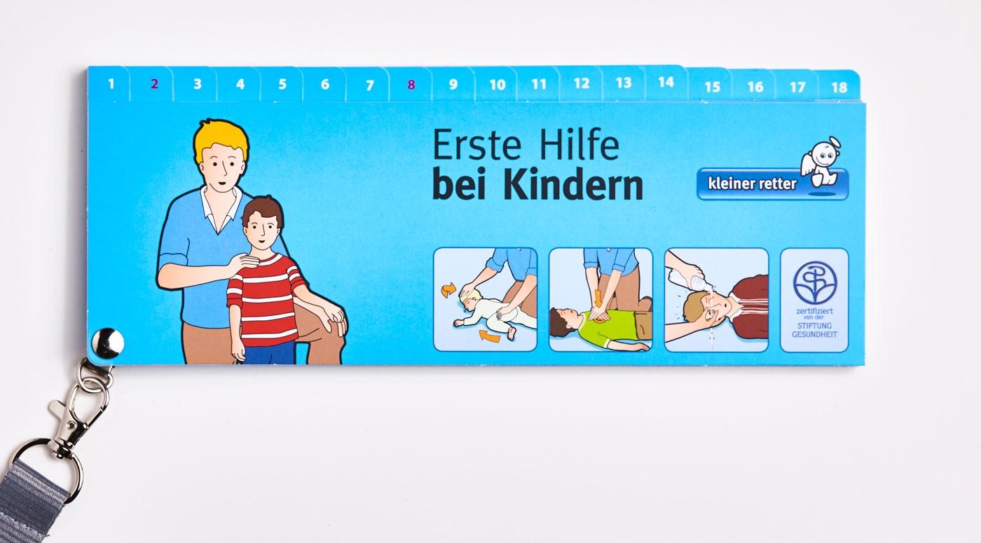kleine Retter-Bildfächer – Erste Hilfe bei Kindern // HIMBEER