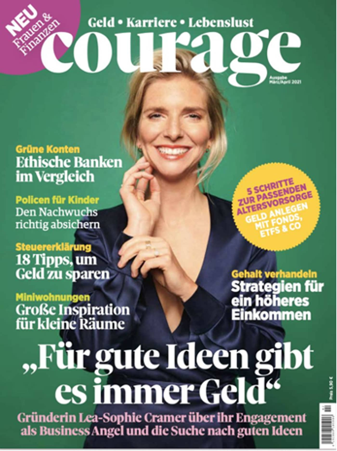 Cover des Magazins Courage // HIMBEER