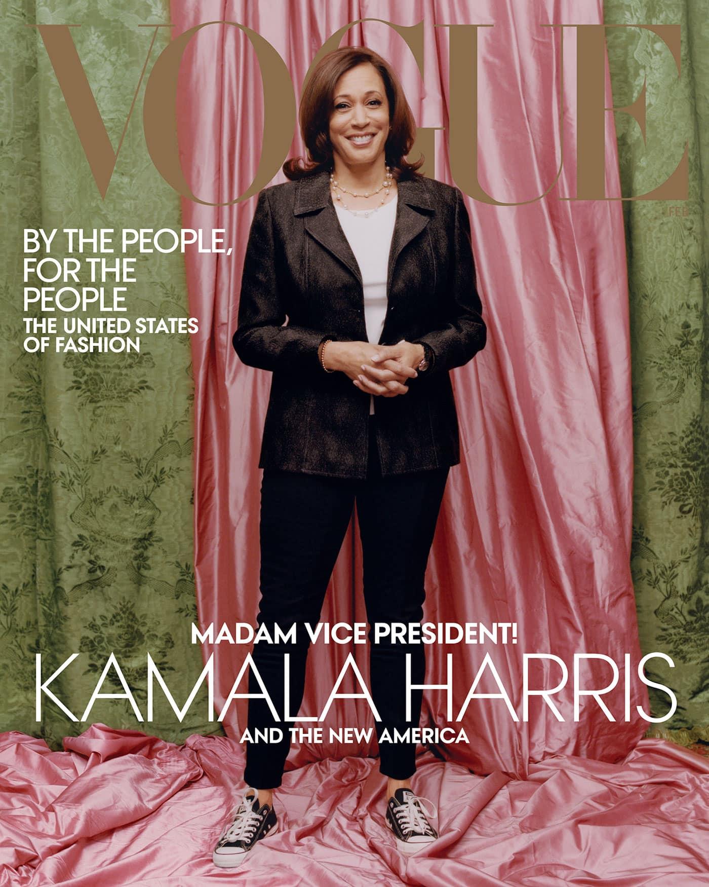 Kamala Harris auf dem Cover der US-amerikanischen VOGUE // HIMBEER