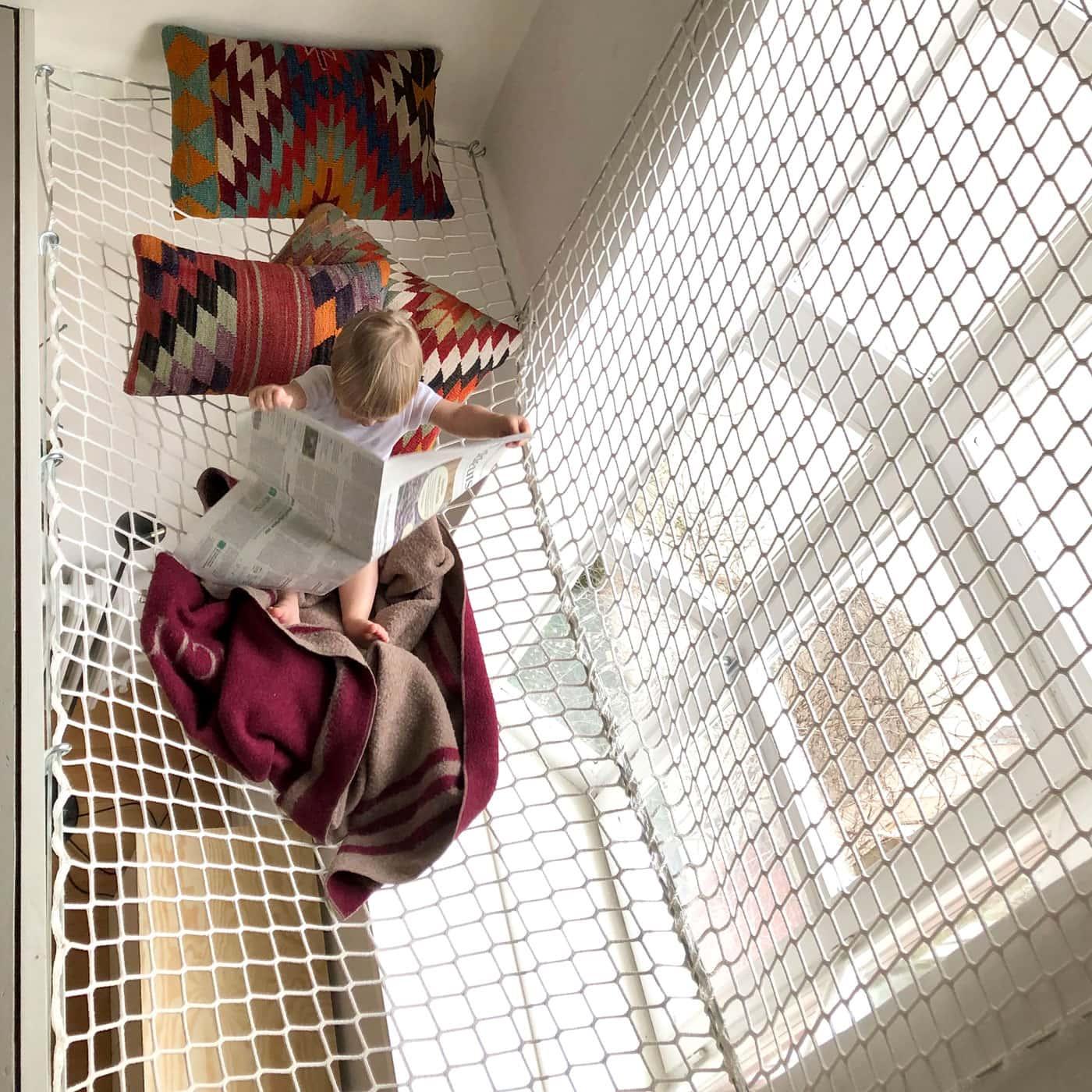 Raumkonzepter für Familien: Hochebene mit Netzen für Kinder // HIMBEER