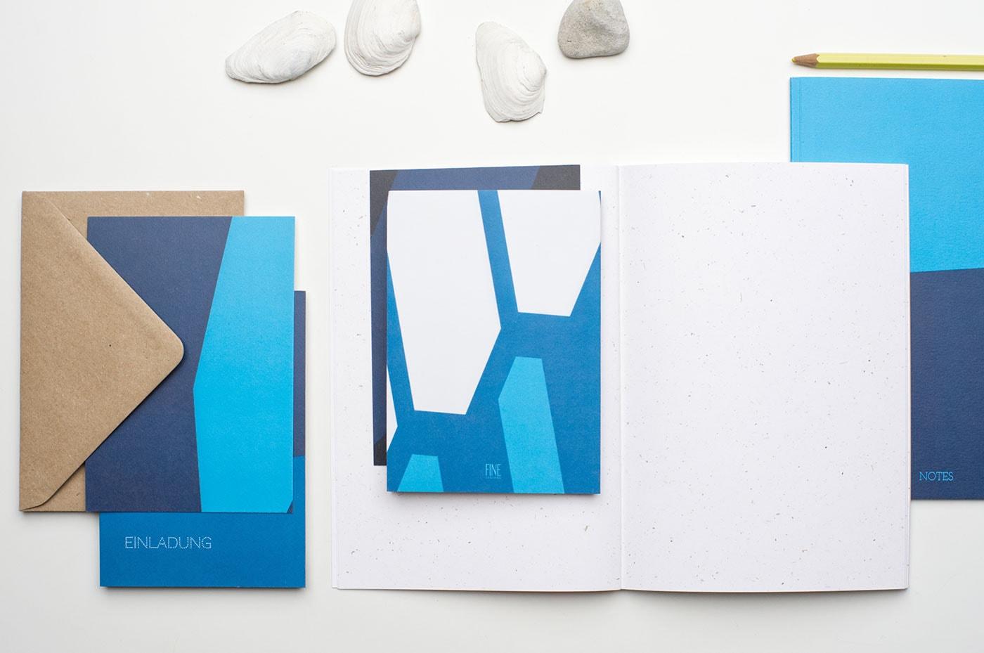 Schöne nachhaltige Notizbücher und Karten von finecolours // HIMBEER