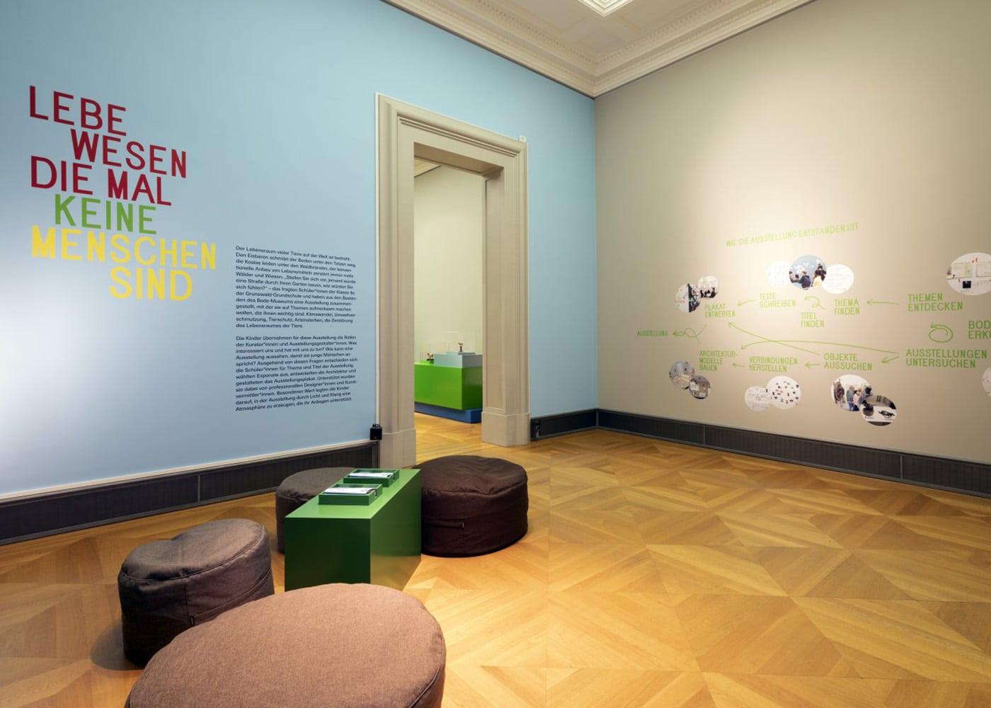 """Von Kindern kuratierte Ausstellung """"Wenn Tiere mal keine Menschen sind"""" // HIMBEER"""