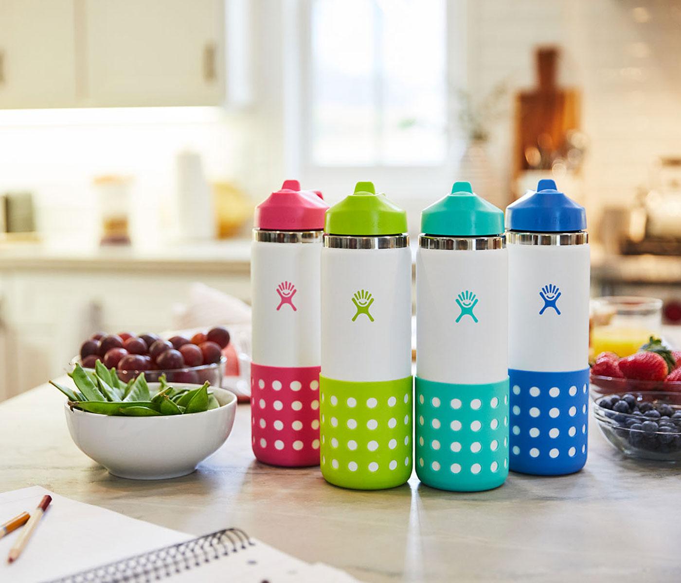 Robuste und auslaufsichere Trinkflaschenbaus Edelstahl für Kinder // HIMBEER