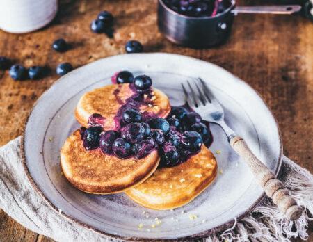 Zitronen-Ricotta-Pancakes: Pancake Rezept für Familien // HIMBEER