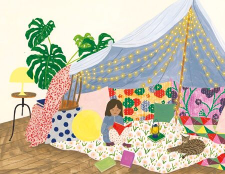 Kinderbuch-Tipp gegen Langeweile: Kinderliechte Bastelideen: Lesehöhle // HIMBEER